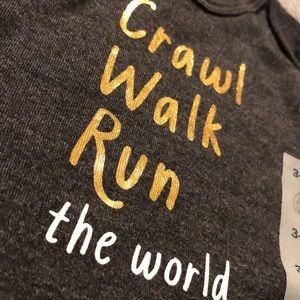 5/$25 Old Navy crawl walk run the world NWT